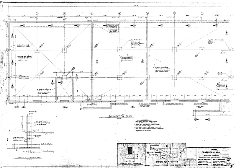 Foundation plan drawing for Foundation plan drawing