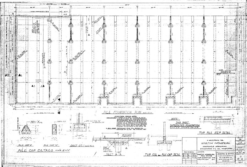 Martin industrial park building 1 drawings for Building foundation plans