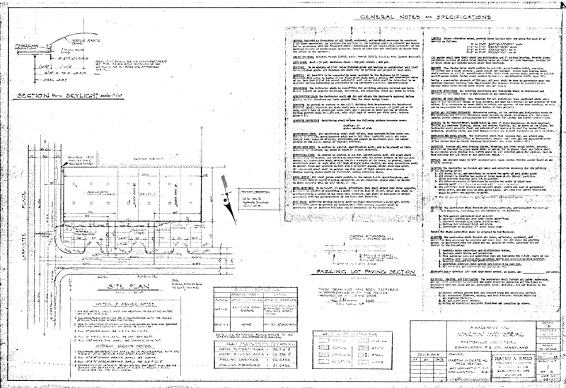 Martin industrial park building 1 drawings - General notes for interior design drawings ...