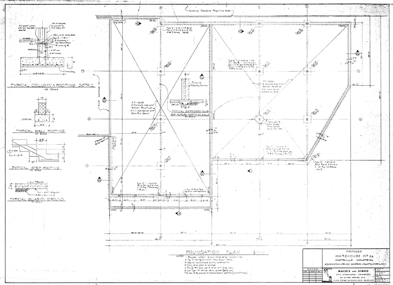Martin industrial park building 3b drawings for Foundation plan drawing