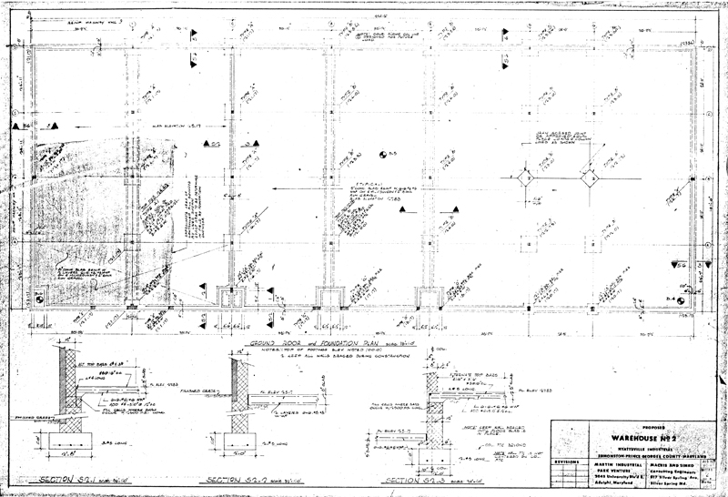 Martin industrial park building 2 drawings for Foundation plan drawing