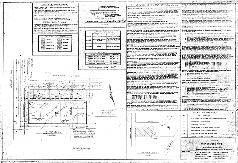 Martin industrial park building 2 drawings - General notes for interior design drawings ...